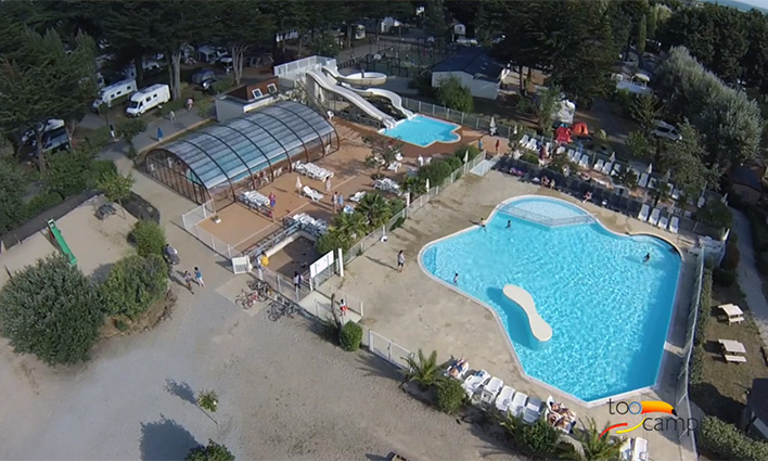 Camping lodge club 4 toiles sarzeau toocamp for Piscine surzur
