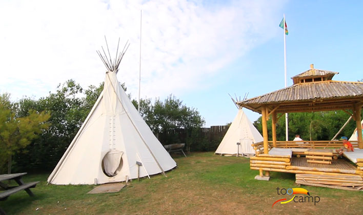Camping l 39 et indien 4 toiles wimereux toocamp for Camping bord de mer nord pas de calais avec piscine