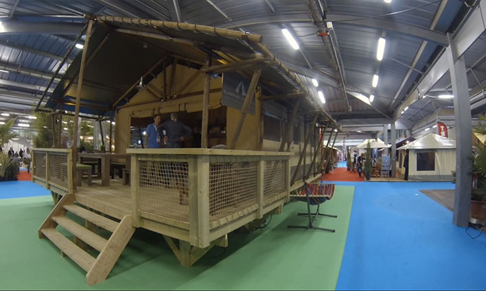 Tente lodge pour Glamping