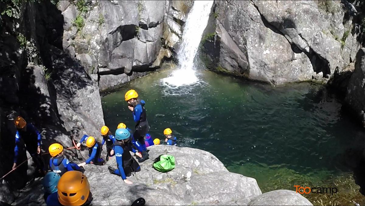 Canyoning dans les gorges du Chassezac en Ardèche