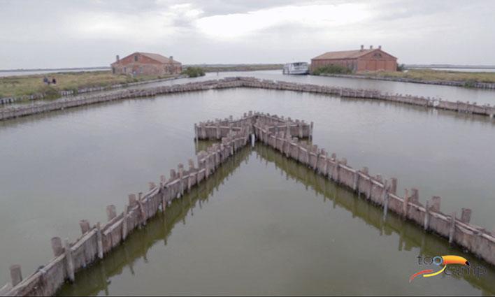 Visitez les marais de Comacchio dans le Delta du Po en Italie