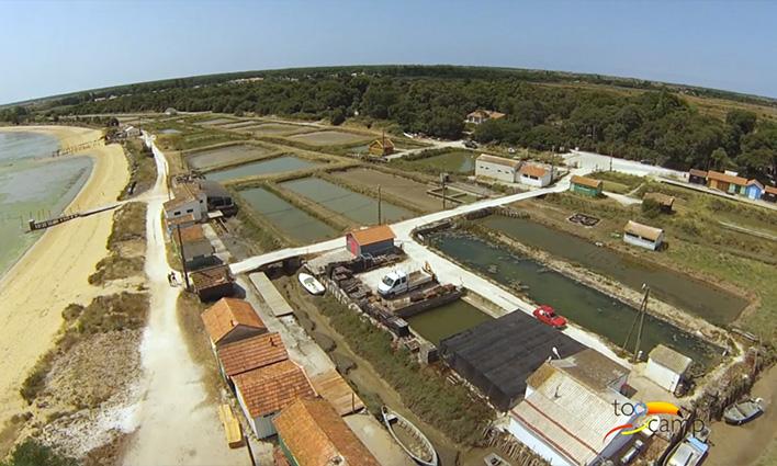 Site d'ostréiculture sur l'ile d'Oléron
