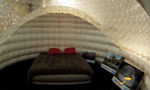 Dormez dans une Bulle gonflable !