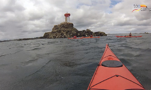 Kayak au phare de la Croix en Bretagne