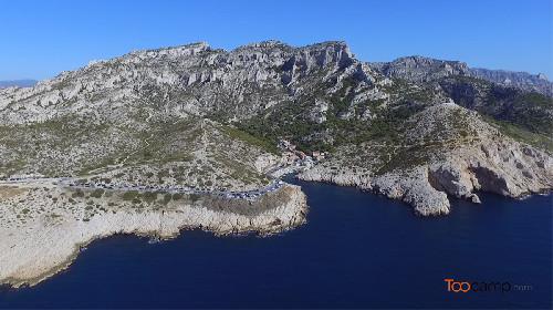 Les calanques de Callelongue et de Marseilleveyre